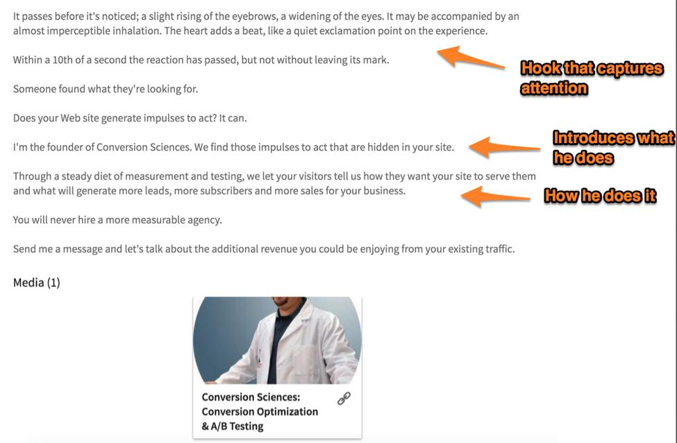 linkedin summary examples