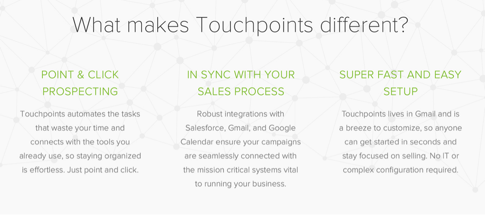 what makes yesware touchpoints different
