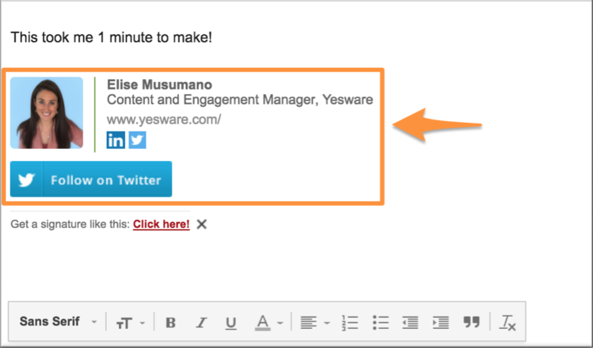 wisestamp gmail extension for email signatures